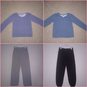 2 Girls HANES Outfits **4 PIECE BUNDLE**